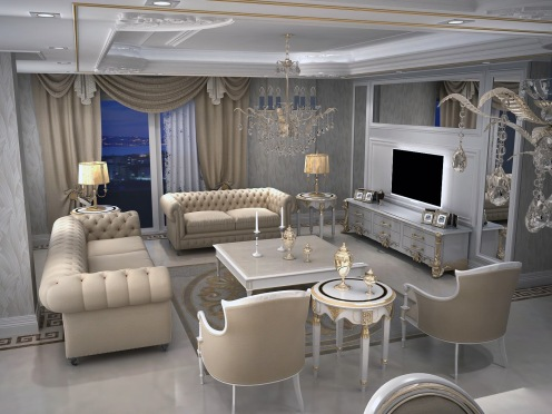 Bay Construction Mahmutlar Pent Villa Lounge