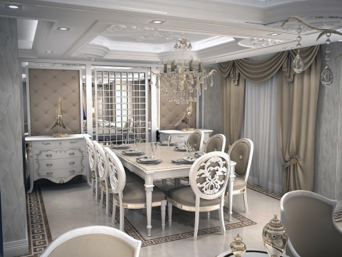 Bay Construction Mahmutlar Pent Villa Dining Room