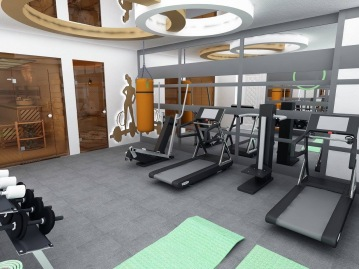 Bay Construction Mahmutlar Pent Villa Private Fitness Room