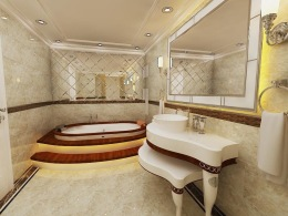 Bay Construction Pent Villa Mahmutlar Bathroom