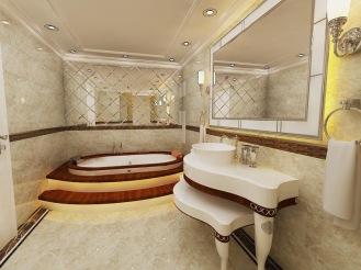 Bay Construction Pent Villa Mahmutlar Bathroom