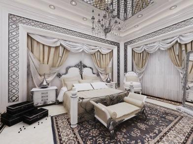 Bay Construction Mahmutlar Pent Villa Master Bedroom
