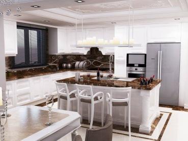 Bay Construction Mahmutlar Pent Villa Kitchen