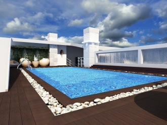 Bay Construction Mahmutlar Pent Villa Rooftop Swimming Pool
